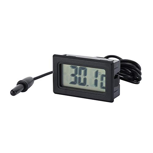 RoadRoma Medidor de Temperatura del term/ómetro Digital LCD TPM-10-50 ~ 70 Celsius Sensor NTC-Negro