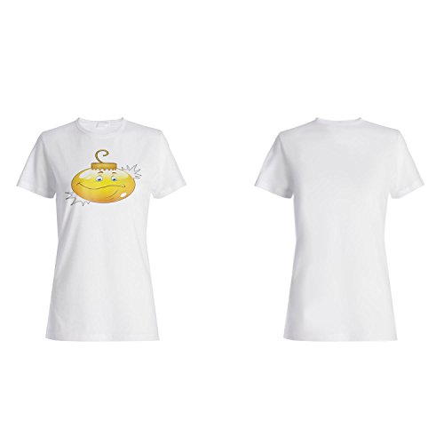 Smiley weihnachtsbirnengesicht neuheit lustige weinlese kunst Damen T-shirt a229f