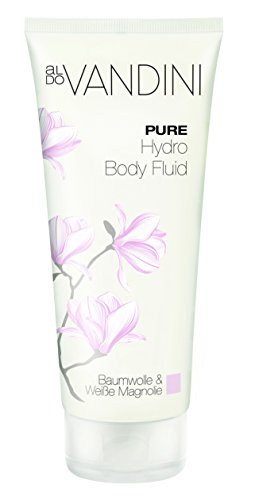 Hydrating Body Lotion with Nourishing Oils & Cotton Seed Extract From Germany Vegan Paraben Free 200 ml Quick Absorbing Cream in 'Pure' Scent with Elegant Magnolia Blossom by aldo Vandini - Exclusive Cotton Satin