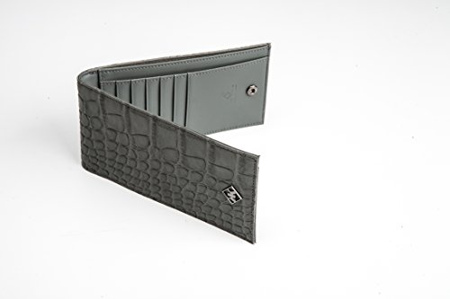 Calf Slim Genuine Custom The Python Luxurious Grey or Wallet KAKTUS Skin Patterned Alligator Bv80n8wx