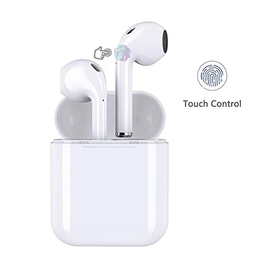 Wireless Earbuds Wireless Bluetooth Headphones 3D Stereo Touch-Control Headsets Pop-ups Pairing 24H Playtime Fast Charging Case IPX5 Waterproof Earphones for Apple AirPod Android Earbuds