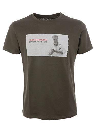 1921 Men's 1921Ss14green Green Cotton T-Shirt 1921 Jeans Cotton Jeans