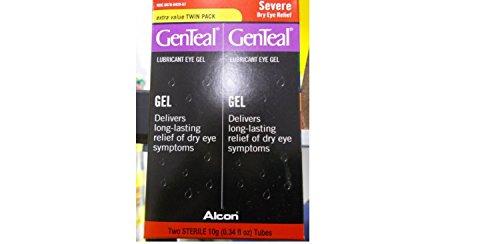 GenTeal Lubrifiant Eye Gel, sévère sec Dégagement oculaire, la valeur supplémentaire, 2 Tubes (0,34 fl. Oz)