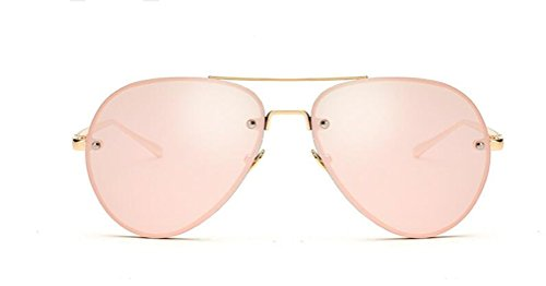 GAMT Aviator Sunglasses for Women Metal Frame Eyeglasses Gold-Barbie - See Through Sunglasses
