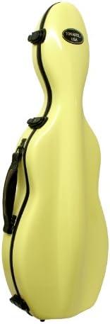 Tonareli Fiberglass Violin Case - Yellow 4/4