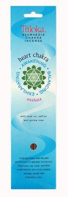 Chakra Incense Heart Chakra Anahata - 10 Stick(s) (Triloka Premium Stick Incense)