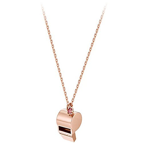 J.ESTINA Korea KBS Popular Soap Opera 'The Queen of Reason' Rye Sul OK Whistle Blow Blew Necklace JJ SV 925 Silver (Rose Gold Plated)