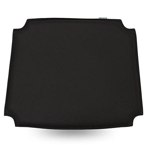- MJ Design Wishbone Chair seat pad PU (Bicast Leather) (4, Black)