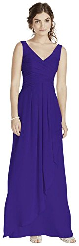 David's Crinkle Chiffon Illusion W10841 Regency Long Style Bridesmaid Dress Bridal Tank wIRxIO
