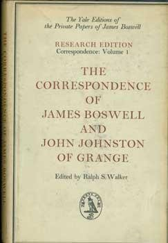 The Correspondence of James Boswell and John Johnston of Grange, J. Boswell