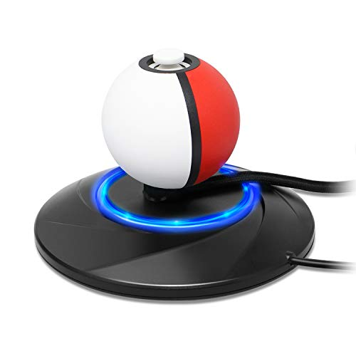 Charger Stand for Nintendo Switch Pokeball plus Controller, Charge Dock Station Holder with Type-C Charger Cable Accessories for Nintendo Pokémon Lets Go Pikachu Eevee Game - Shake Charger