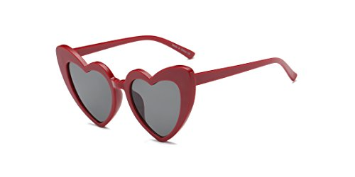 Cramilo Women Heart Shaped Sunglasses Fashion Cute Retro Eyewear - Sunglasses Men Face Heart Shaped For
