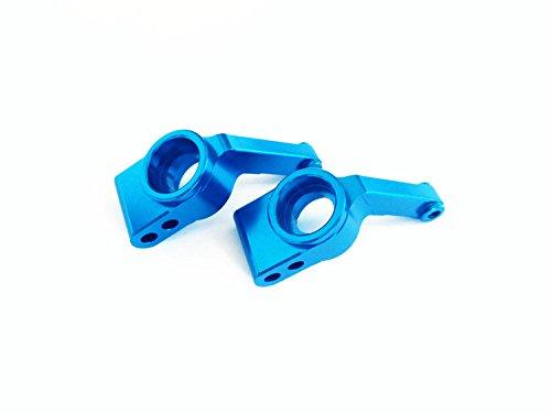 Aluminum Rear Stub Axle Carriers Blue - 1PR For 1/10 RC Car Rustler VXL & XL-5