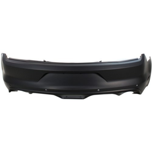 Mustang Rear Bumper Cover - Rear Bumper Cover Compatible with FORD MUSTANG 2015-2017 Primed with Object Sensor Holes V6/EcoBoost Models Coupe/Convertible