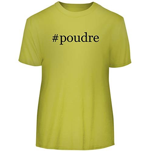 - One Legging it Around #Poudre - Hashtag Men's Funny Soft Adult Tee T-Shirt, Yellow, X-Large