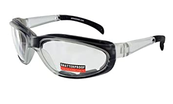 2dfcf28c63 Image Unavailable. Image not available for. Colour  Pagos-2 Foam Padded Safety  Glasses With Prescription ANSI Z87-2 Compliant Frame