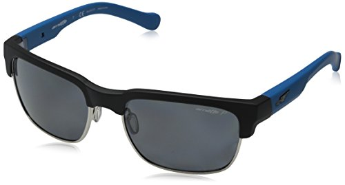 Arnette Dean AN4205-02 Polarized Rectangular Sunglasses, Black, 58 - Dean Sunglasses