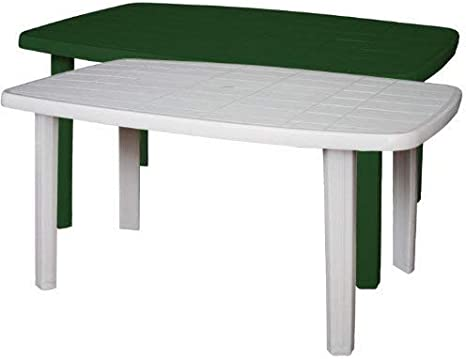 Tavolo Giardino Plastica Prezzo.Sorrento Tavolo Rettangolare Da Giardino In Resina Verde Amazon It Giardino E Giardinaggio