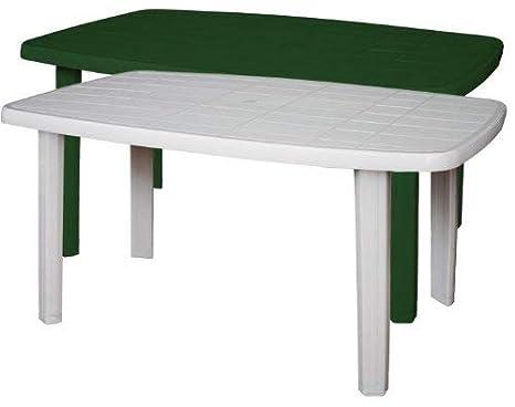 Tavolo Di Plastica Da Esterno.Sorrento Tavolo Rettangolare Da Giardino In Resina Verde Amazon