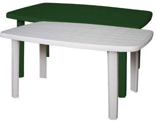 Mesa rectangular SORRENTO de resina para jardín, color verde ...