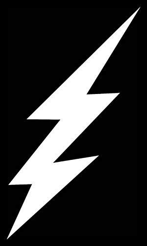 (Creative Concepts Ideas Lightning Bolt Large Shazam CCI Decal Vinyl Sticker|Cars Trucks Vans Walls Laptop|White|6.0 x 2.5)
