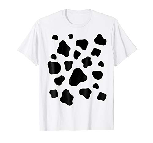 Cow Print Pattern Shirt Animal Halloween Costume Idea Gift