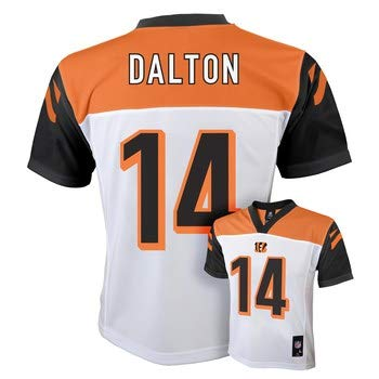 Authentic Alternate Custom Jersey - Outerstuff Andy Dalton Cincinnati Bengals #14 NFL Youth Alternate Mid-tier Jersey White (Youth Large 14/16)