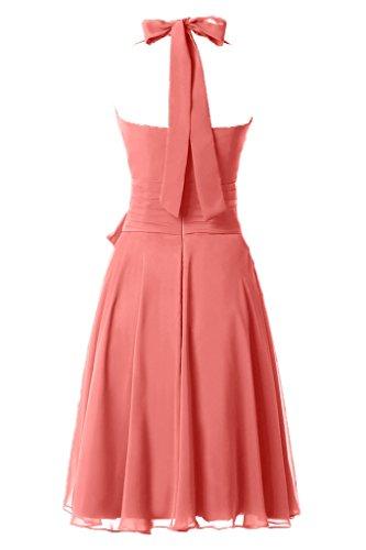 ginocchio abito sera del sposa cavezza da Chiffon partito vestito vestito moderna da al arco Wassermelone cocktail Splendida da xg4UqSII