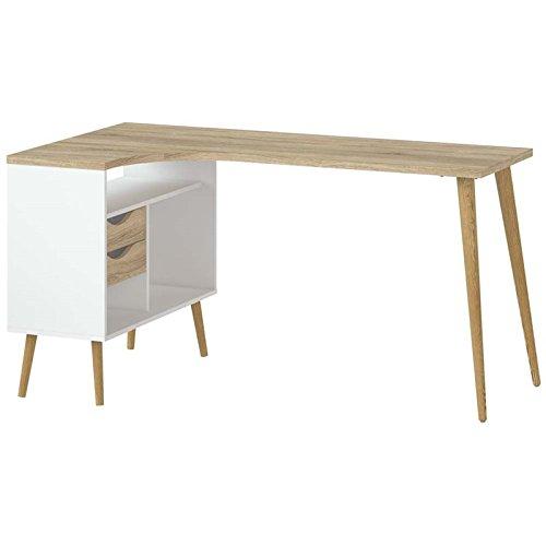 Tvilum 7545049ak Diana Desk, White/Oak Structure