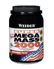 (2 Pack) - Weider Nutrition - Mega Mass 2000 Strawberry   1500g   2 PACK BUNDLE