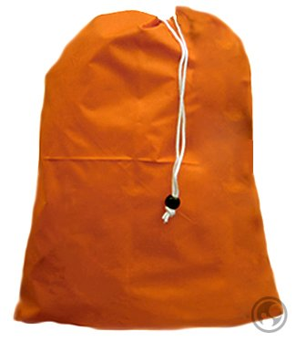 Laundry Bag with Drawstring and Locking Closure, Color: Orange, Small Size: 22x28