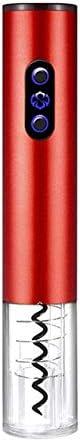 AILSAYA Eléctrica De Vino del Abrelatas, Botella Sacacorchos Abrelatas del Vino Sacacorchos Set De Regalo con La Lámina Cortadora Recargable (Rojo)