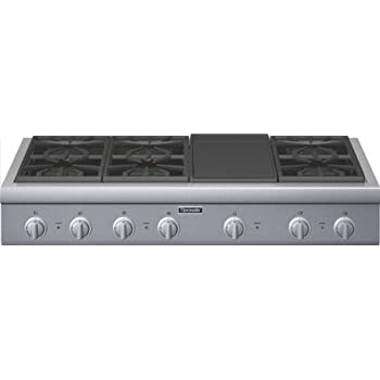 gas cooktop with griddle. Thermador Professional : PCG486GD 48 Pro-Style Gas Rangetop 6 Pedestal Star  Burners, Griddle Gas Cooktop With Griddle