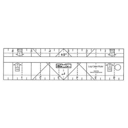Bloc Loc~Log Cabin Ruler, 2
