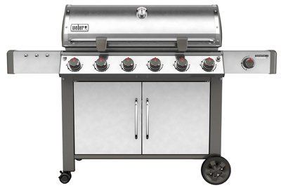Weber 68004001 Genesis II LX S-640 Natural Gas Grill, Stainless Steel, Six-Burner,