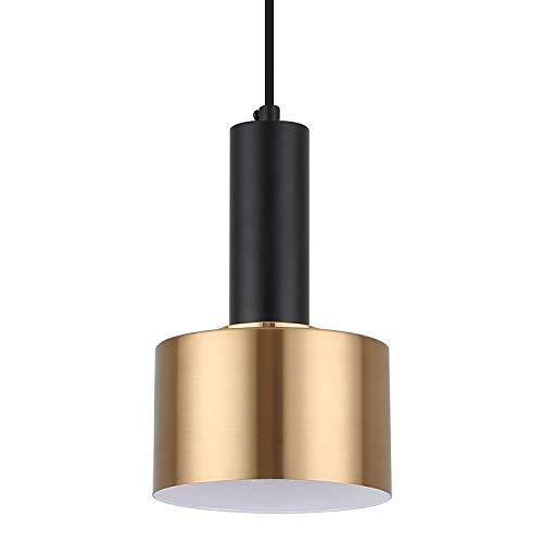 Modern Mini Pendant Light with 4W LED Bulb, One-Light Adjustable Metal Pendant Lighting Fixture for Kitchen Island Cafe…