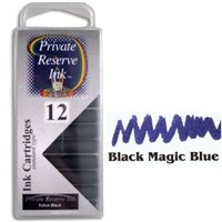 (Private Reserve Black Magic Blue Ink Cartridges)