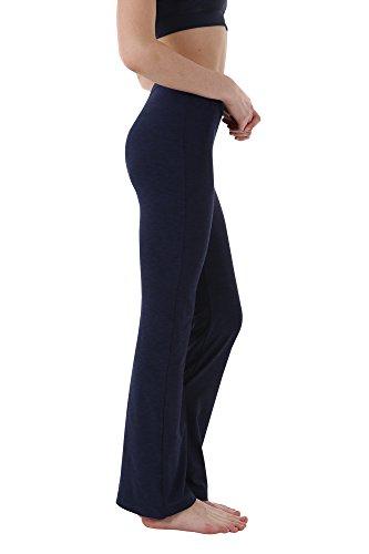 aa1a2d1154a3a7 THEOUTOF Women's Power Yoga Pants Inner Pocket - Mid Bootleg Long - Bootcut  Leggings