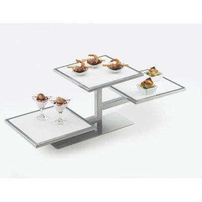 Cal-Mil 1140-74 One by One Tiered Riser, 32.25'' Width x 13'' Diameter x 10.5'' Height, Silver by Cal Mil