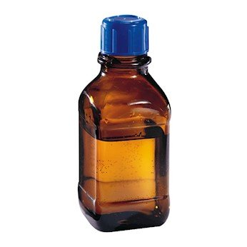 Wheaton 844029 Amber Glass Safety Bottle, USP Type 3, Square, 1000 mL, 45 mm cap