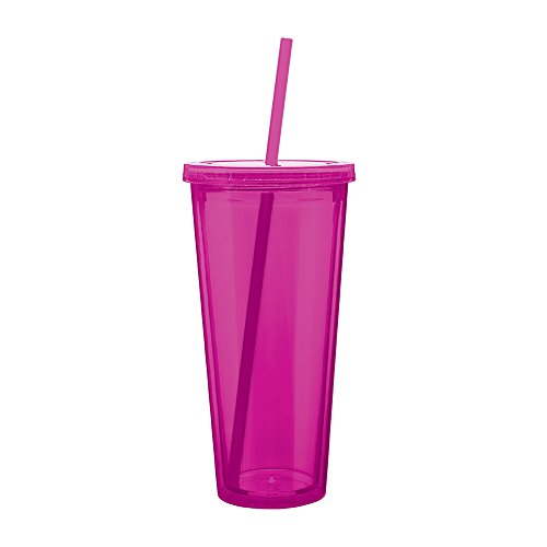 Eco To Go Cold Drink Tumbler - Double Wall -20oz. Capacity - Fuchsia (Cool Gear Tumbler)