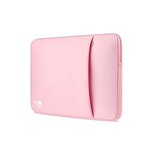 ProElife12-Inch Elegant Waterproof Neoprene Case Bag Sleeve for Apple MacBook 12'' Dell Asus Acer HP Samsung 12'' (12 Inch, two Zipper-Pink) 12' Giraffe