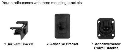 Sleek Cradle Booster (Wilson 901134 3-Pc Vehicle Mount Kit for Cradle Signal Booster SLEEK MobilePro)