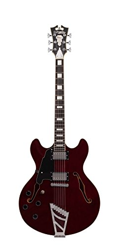 D'Angelico Premier DC Semi-Hollow Lefty Electric Guitar w/ Stairstep Tailpiece – Trans Wine