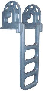 Dock Edge Dock Ladder, 4 - Step, Flip Up - Grey