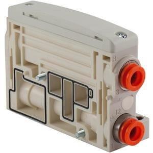 SMC VVQC1000-2A-1-C8 - SMC VVQC1000-2A-1-C8 Pneumatic Manifold End Plate, Operating Temperature Range: -10 tox2b;50°C