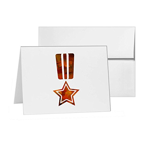 Medal Award Merit Military Militia, Blank Card Invitation Pack, 15 cards at 4x6, Blank with White Envelopes Style 12605