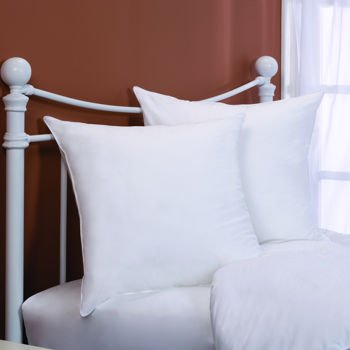 Two - 400 Thread Count - 26 x 26 Square-Down Alternative - Euro Pillow - 2 Year Warranty