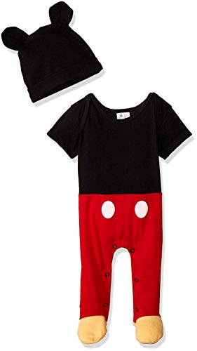 Disney TYM4603 Pijama Entero para Bebés, manga corta, color Rojo/Negro, 6