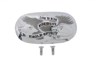 V-Twin 34-0986 - Eagle Spirit Oval Chrome Air Cleaner Insert ()
